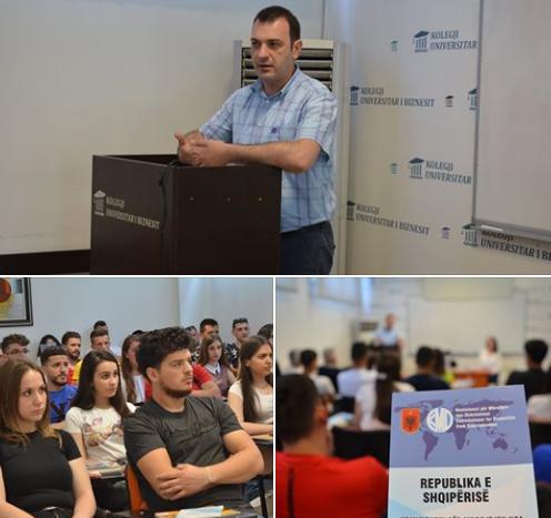 Komisioneri Dr. Gajda leksion të hapur në Kolegjin Universitar të Biznesit